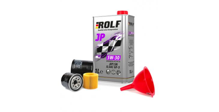 Моторное масло ROLF JP 5W30 API SN + Бесплатная замена